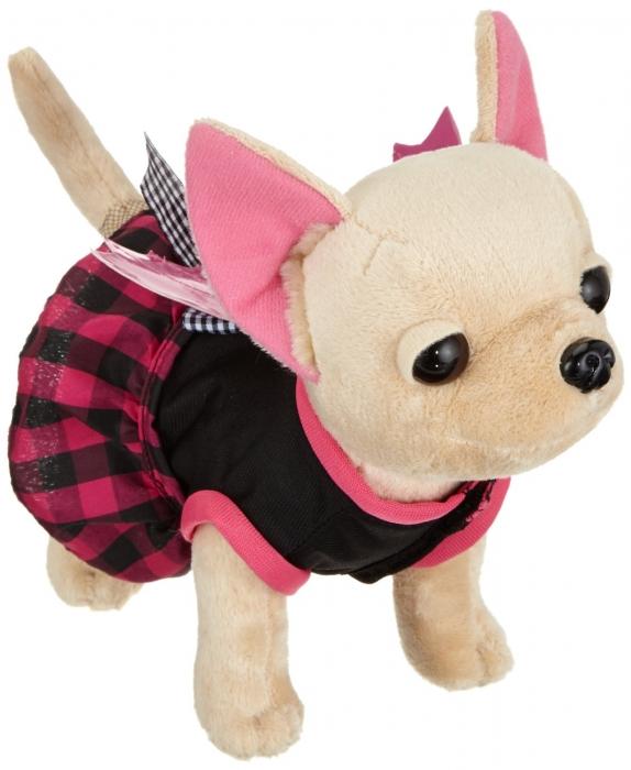 Игрушка мягкая Simba Плюшевая собачка Вампирчик, в платье с крылышками, в сумочке, 20 см