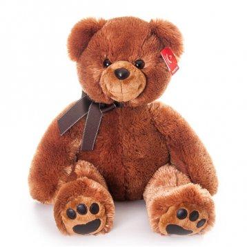 Игрушка мягкая Aurora Медведь 70 см, тёмно - коричневый