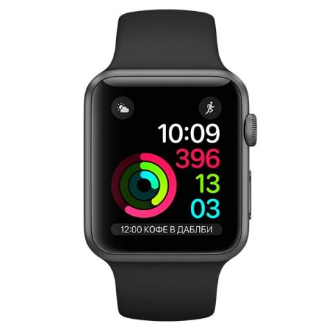 Умные часы apple Watch Series 1 38mm (MP022RU/A) , графит/черные