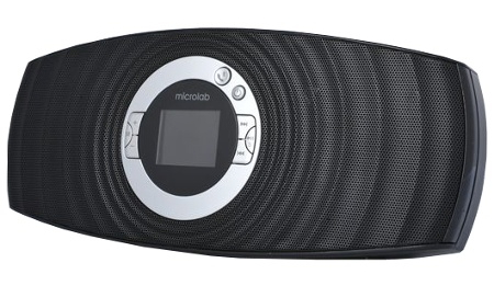 Портативная акустика Microlab MD310BT, чёрная (2.1ch, Bluetooth 2.1, вход, выход, микрофон, USB, SD, аккумулятор, часы) MD310 BT black