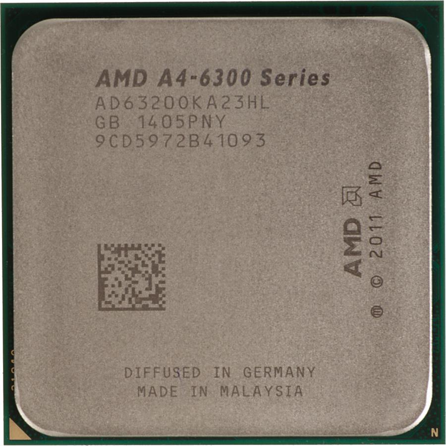 Процессор AMD A4-6320 Richland (FM2, L2 1024Kb, Tray) AD6320OKA23HL