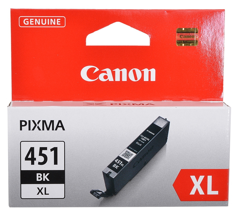 Картридж Canon CLI-451BK XL Чёрный 11 мл (для iP7240, MG5440, MG6340, MG6440, MG7140, MX924) 6472B001