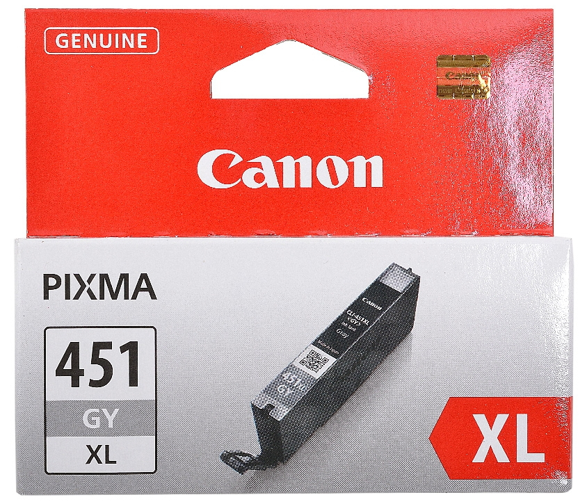 Картридж Canon CLI-451GY XL (серый, 11 мл, для iP7240, MG5440, MG6340, MG6440, MG7140, MX924) 6476B001