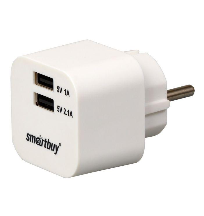 Зарядное устройство SmartBuy VOLT SBP-2100, белое