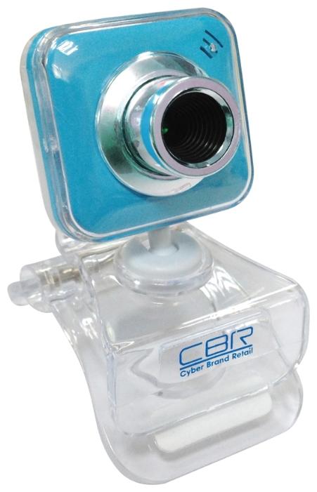 Web-камера CBR CW-834M, универс. крепление, 4 линзы, 1,3 МП, эффекты, микрофон, CW 834M, синяя CW 834M Blue