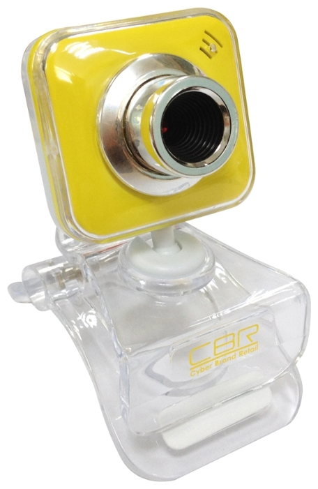 Web-камера CBR CW-834M, универс. крепление, 4 линзы 1,3 МП, эффекты, микрофон, CW 834M, жёлтая CW 834M Yellow