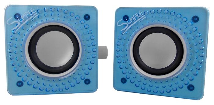 Компьютерная акустика CBR Simple S27, голубая S27 Blue