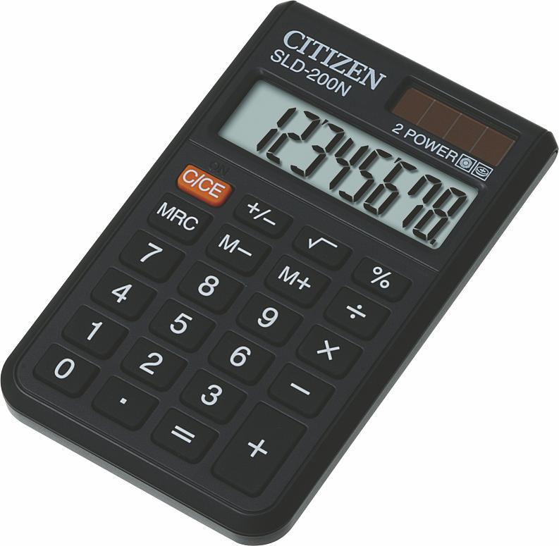 Калькулятор Citizen SLD-200N, Чёрный