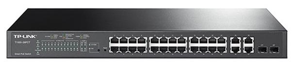 Коммутатор (switch) TP-LINK T1500-28PCT (управляемый)