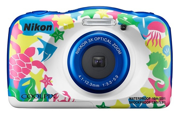 Цифровой фотоаппарат Nikon Coolpix W100, морской рисунок VQA014K001