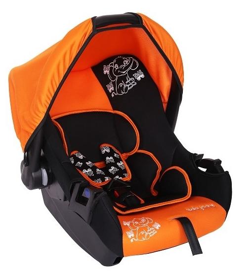 Автокресло Baby-Care BC-322 Люкс Слоник, оранжевое