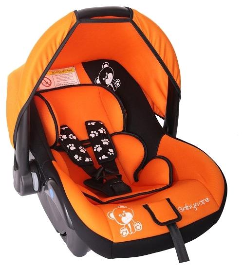 Автокресло Baby-Care Baby Care BC-321 Люкс Мишка, оранжевое