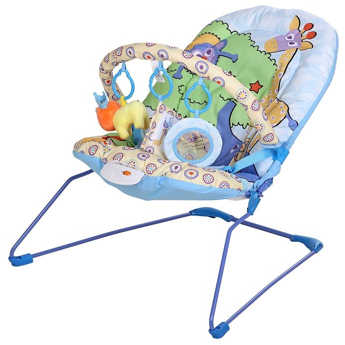 Детское кресло-шезлонг La-Di-Da Шезлонг Львенок (дуга с игрушками)