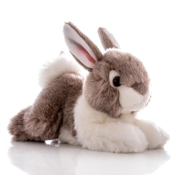 Игрушка мягкая Aurora Кролик 300-05 серый