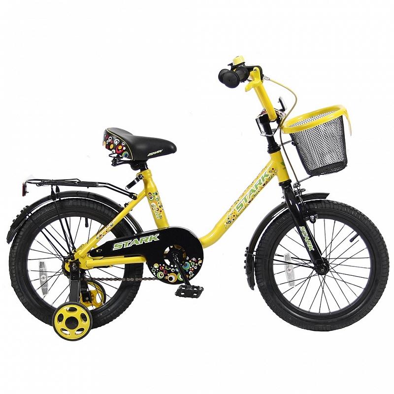 Велосипед VELOLIDER 16 Lider Stark, жёлто-чёрный