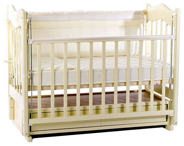 Детская кроватка Vedruss Милена, слоновая кость