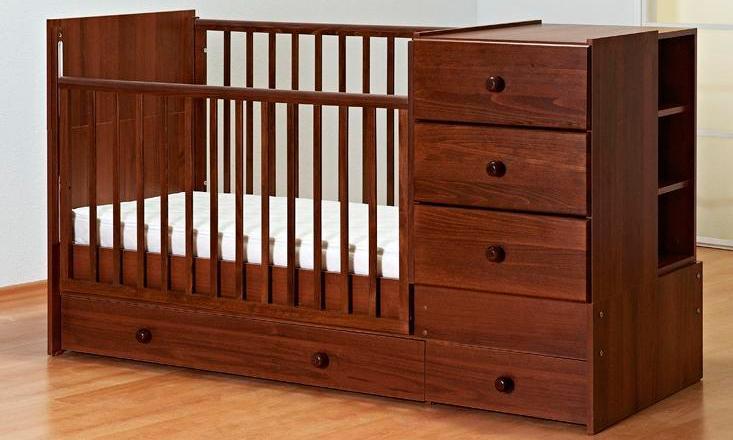 Детская кроватка Gandilyan КК-2010-Т Тереза, вишня
