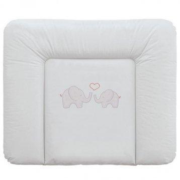 Матрас для детской кроватки Ceba-Baby Матрац пеленальный 70x85 см мягкий на комод Elephants grey