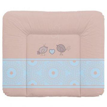 Матрас для детской кроватки Ceba-Baby Матрац пеленальный 70x85 см мягкий на комод Birdies brown