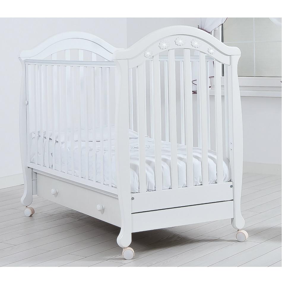 Детская кроватка Gandilyan Джозеппе (колесо), белая К 2002-18