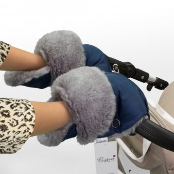 Аксессуар к коляске Esspero Муфта - рукавички Christoffer, темно-синяя
