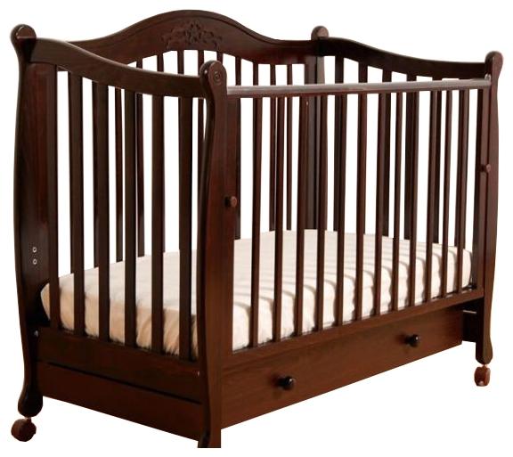 Детская кроватка Gandilyan Моника (колесо), махагон
