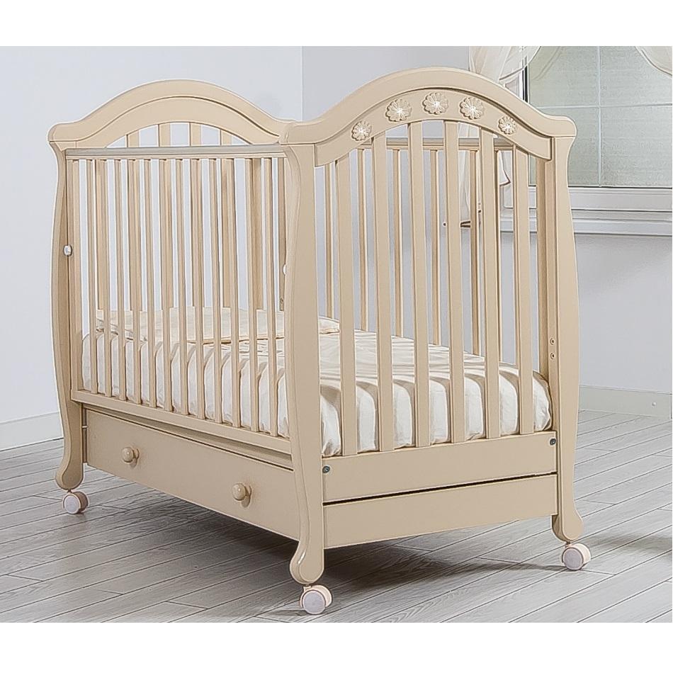 Детская кроватка Gandilyan Джозеппе (колесо), слоновая кость