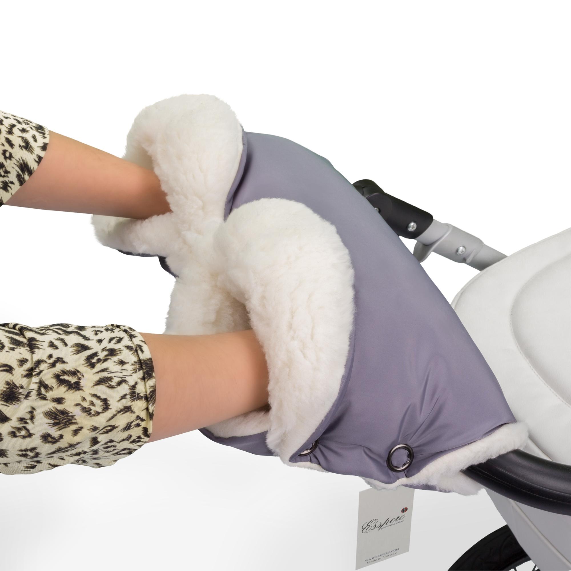 Аксессуар к коляске Esspero Муфта для рук Soft Fur Lux серая