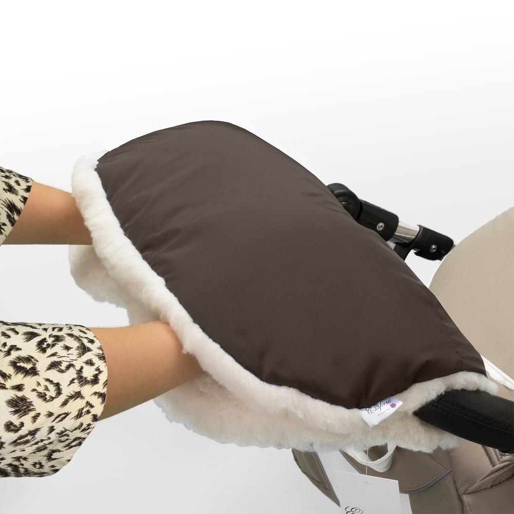 Аксессуар к коляске Esspero Муфта для рук Soft Fur, шоколад