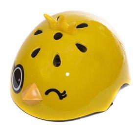 Шлем роликовый Rexco 3D Цыпленок Янни, желтый