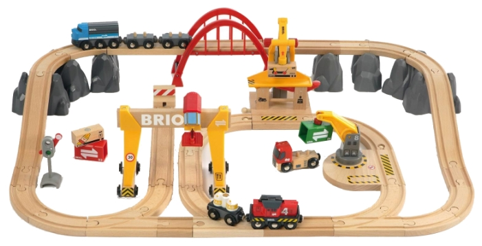 Набор игровой BRIO Грузовая железная дорога Люкс (54 дет)