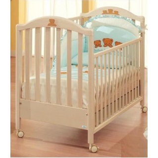 Детская кроватка Mibb Tender (аппликация) слоновая кость