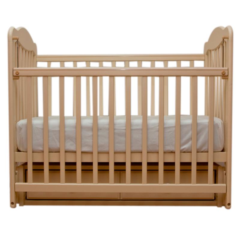 Детская кроватка Schastliviy-Malish Дюймовочка (маятник) слоновая кость