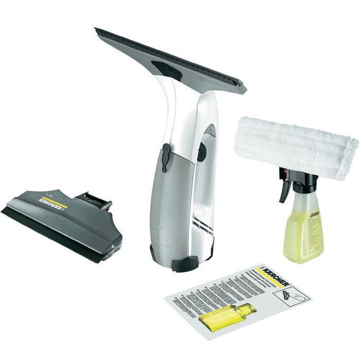 Чистящая принадлежность для ноутбука Стеклоочиститель Karcher WV 75 Plus, аккумулятор, насадки, моющее средство
