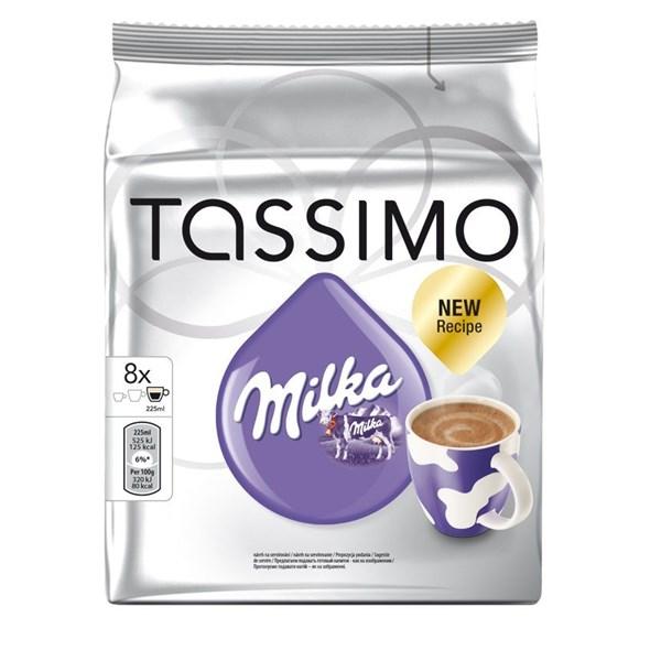 Горячий шоколад Tassimo Milka New Recipe (вкус шоколада Milka по новому рецепту, 8 капсул для кофемашины)