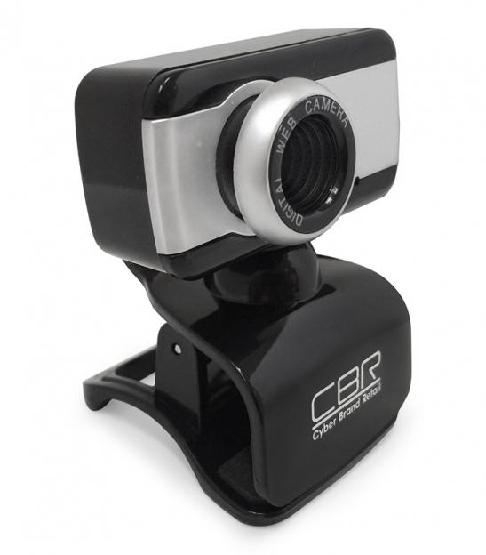 Web-камера CBR CW 832M, чёрная с серебристой вставкой CW 832M Silver