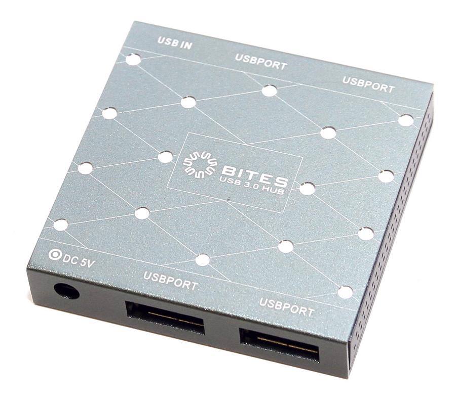 USB концентратор 5bites активный, на четыре порта USB 3.0 (HB34-302PGY), серебристый