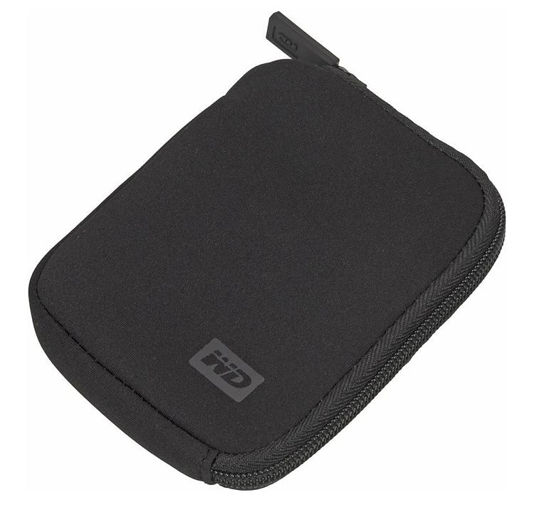 Корпус жесткого диска Western-Digital Чехол WD WDBABK0000NBK-ERSN для HDD, черный неопрен