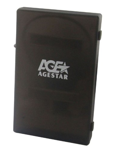Корпус жесткого диска Agestar SUBCP1 для 2.5''HDD, USB2.0 - SATA, чёрный SUBCP1 Black