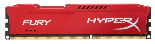 Модуль памяти Kingston HX318C10FR/8 (1 x 8 Гб, DDR3 1866 МГц, DIMM, CL10), красный