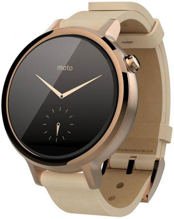Умные часы Motorola Moto 360S, Золотистые SM4347AS6T1