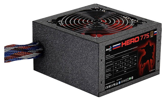 Блок питания AeroCool Hero 775W (120 mm fan, 80+ bronze)