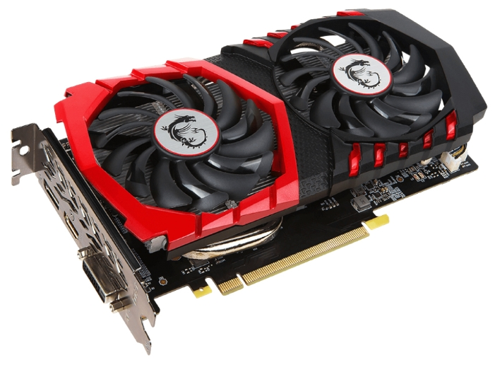 Видеокарта GeForce MSI GTX 1050 1442Mhz PCI-E 3.0 2048Mb 7108Mhz 128 bit DVI HDMI HDCP GAMING X GTX 1050 GAMING X 2G