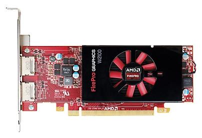 Видеокарта Radeon HP FirePro W2100 2GB, PCIe x16 DVI, DP J3G91AA