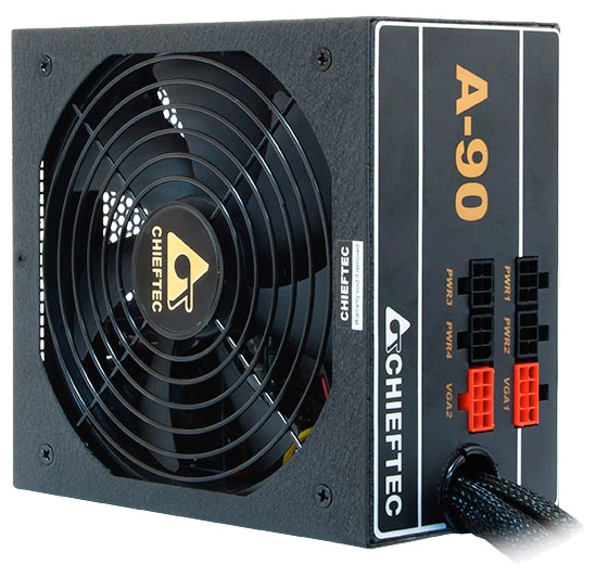 Блок питания Chieftec GDP-650C (650 W, fan 14 cm, 80 Plus Gold)