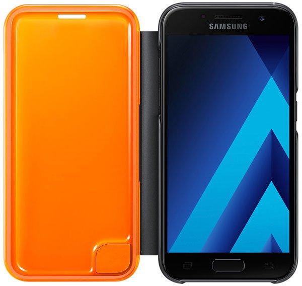 Samsung Galaxy A3 (2017) Neon Flip Cover, черный