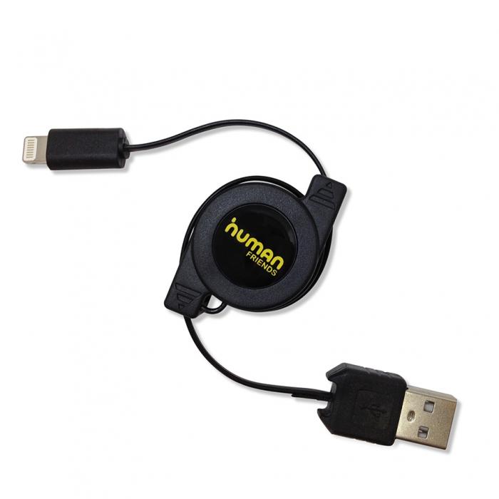 Кабель (шнур) CBR Human Friends Spring L Ligthtning to USB Black