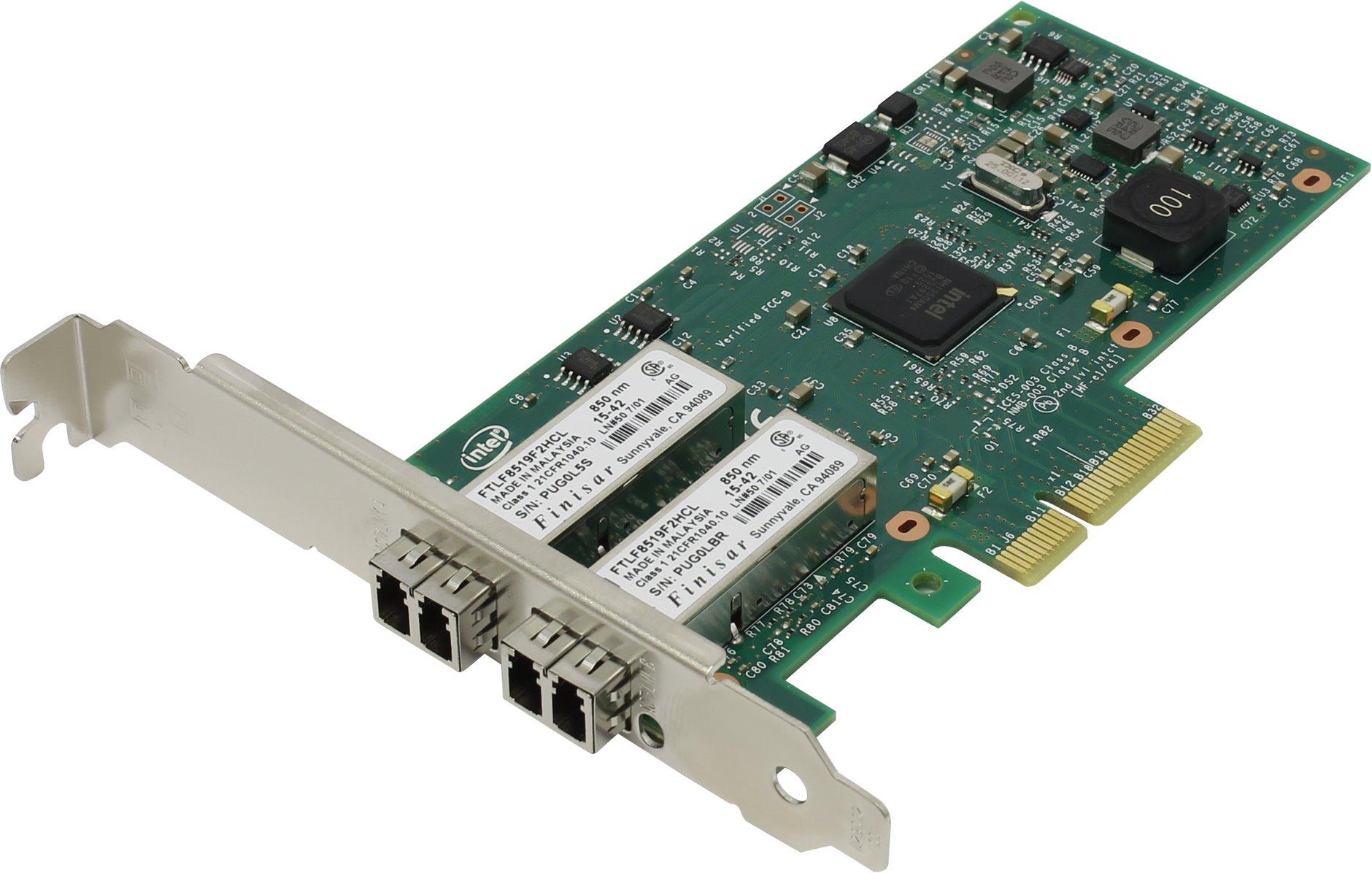 Сетевая карта внутренняя Intel I350-F2 SFP I350F2BLK