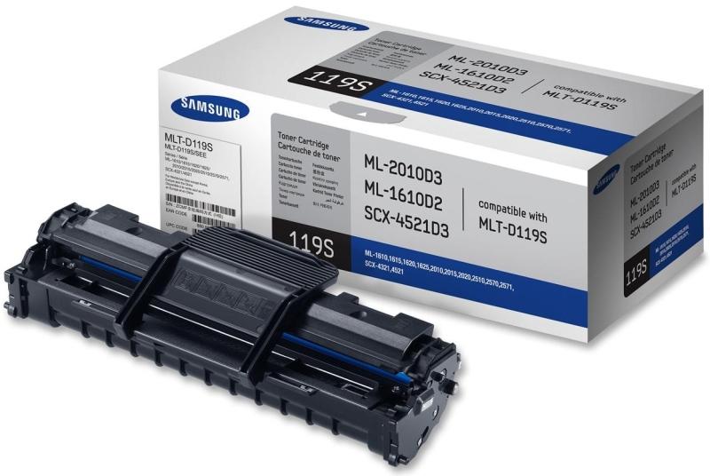 Картридж Samsung MLT-D119S, чёрный MLT-D119S/SEE