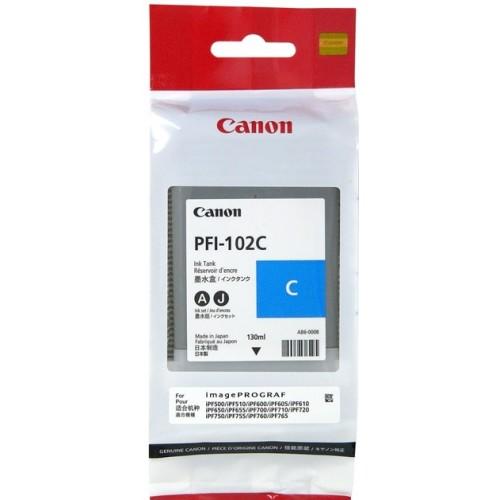 Картридж Canon PFI-102 C, голубой 0896B001